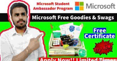 Microsoft Free Goodies & Swags   Microsoft Student Ambassadors Program 2021