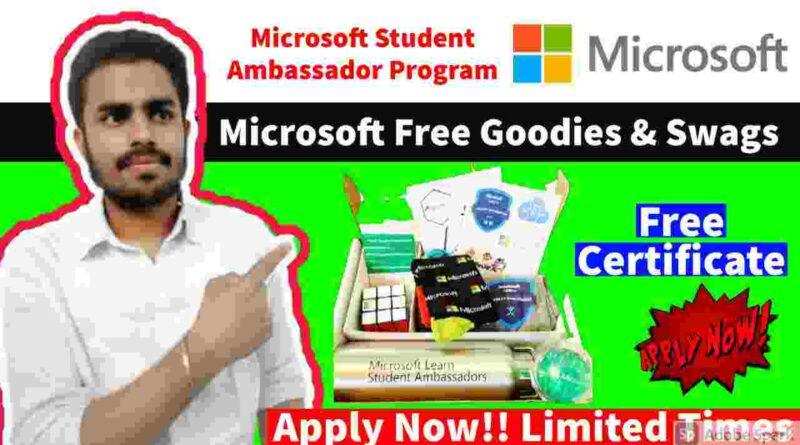 Microsoft Free Goodies & Swags | Microsoft Student Ambassadors Program 2021