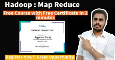 Hadoop : Map Reduce   Free Course   Get Verified Certificate in 2021