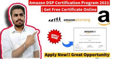 Amazon DSP Certification Program 2021   Get Free Certificate Online