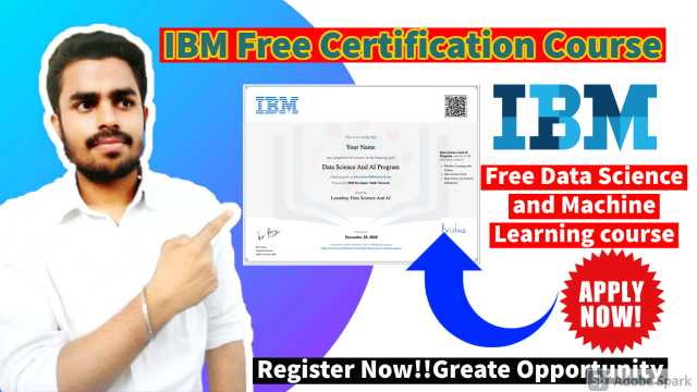FREE IBM Certification Course| Data Science, AI & ML Free Learning Certificate 2021