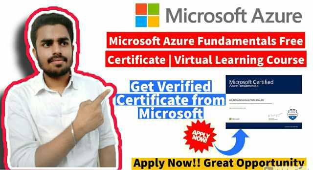 Microsoft Azure Fundamentals Free Certificate   Event Link-3