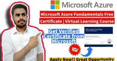 Microsoft Azure Fundamentals Free Certificate   Event Link-2