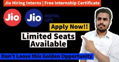 Jio Internship Program 2021 | Free Virtual Internships with Certificate