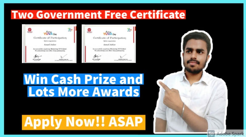 Government Free Certification | Online Quiz Competition 2021