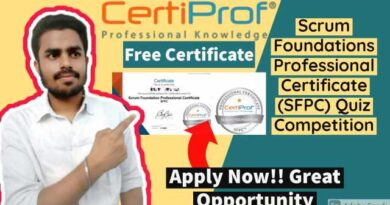Scrum Foundations Professional Certificate (SFPC)   Free Quiz Certificate   Certiprof Professional Knowledge