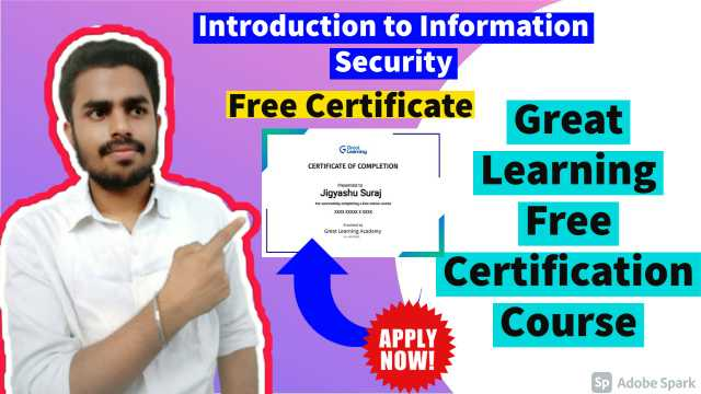Free Introduction to Information Security Course By Great Learning