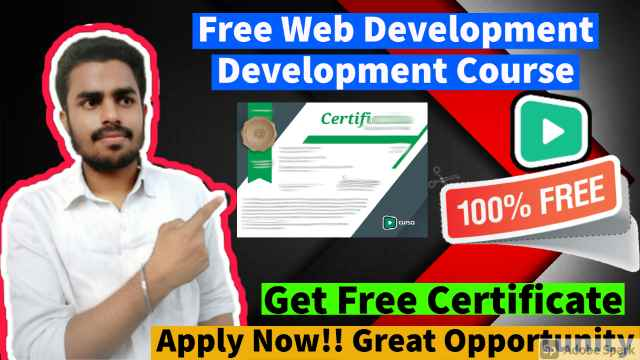 Best Free Web Development Course For Beginners   Free Web Development Course With Free Certificate in 2021
