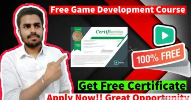 Best Free Game Development Course 2021 | Game Development With Unity3d Tutorial video | Free Certificate