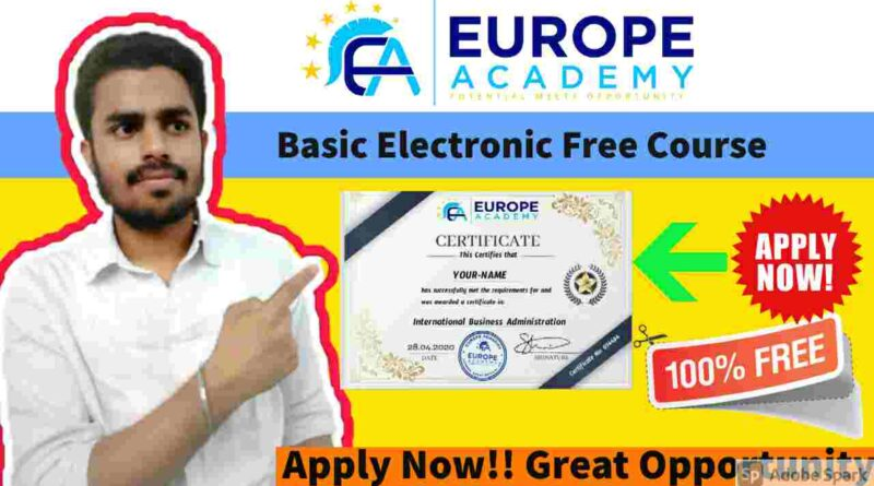 Basic Electronics Free Course in 2021 | Free Course With Certificate