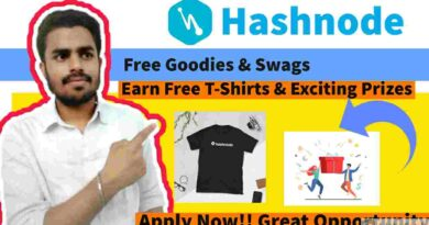 Free Goodies & Swags   Free T-shirts and Exciting Prizes   Hashnode Swag Kit