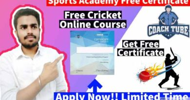 Sports Academy Free Certificates | Free Online Cricket Course in 2021