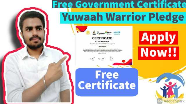 Free Government Certificate   Young Warrior Free certificate
