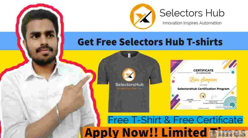 Free T-shirts For Everyone | Selectors Hub Free Hoodies & Certificate in 2021