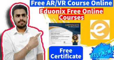 Free Ar and Vr course With Experienced Certificate| VFX and Virtual Reality Theory Basics By Eduonix in 2021