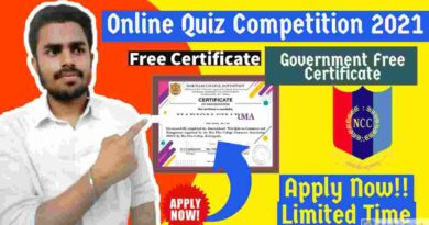 Online Quiz Competition with E-Certificate | Independence Day Quiz Competition 2021 | Free NCC Certification