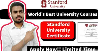 Stanford University Free Online Courses With Certificates   Free Certified Courses Online 2021