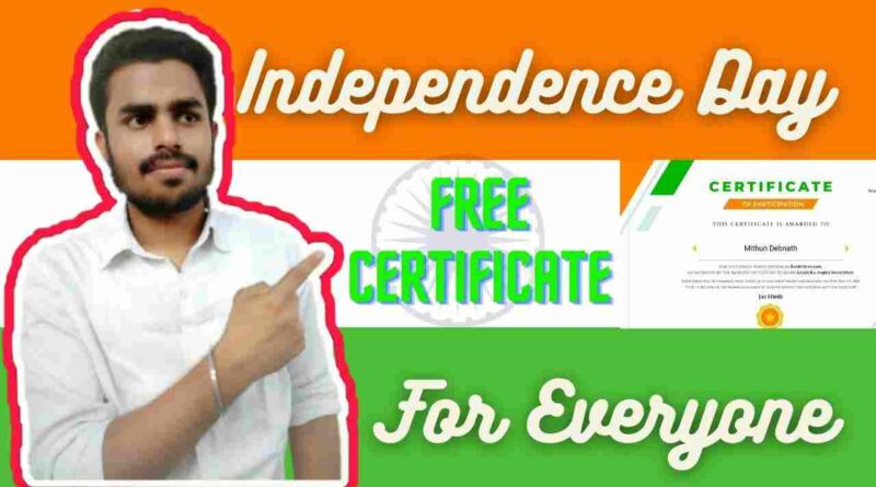 Independence Day Free Certificate   Free Government Certificate in 2021