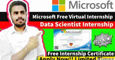 Data Scientist Internship Opportunity | Free Microsoft Internship | Free Internship Certificate 2021