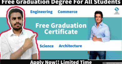 Free Graduation Degree Courses Across India |Free Courses For Every Student | Free Graduation Degree in 2021