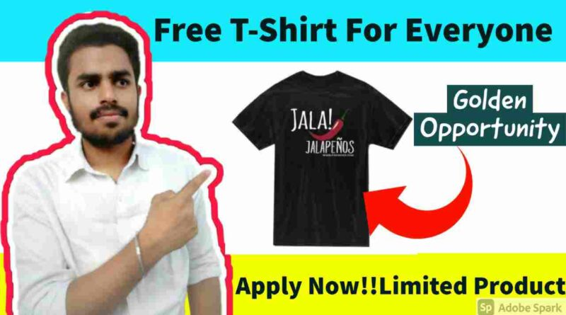 Free Branded T-Shirt For Everyone   Get a Free Sample T-shirt Today With Free Shipping
