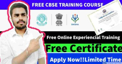 Free CBSE Training Course 2021 For All Students   CBSE Offers Free Training Course on Experiential Learning