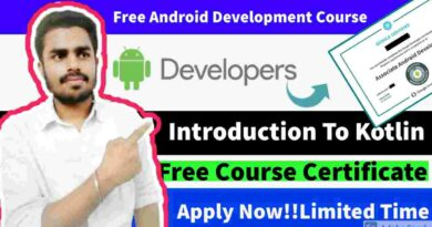 Introduction to Kotlin Course with Free Certificate   Free Kotlin course to develop Android App