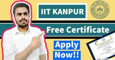 IIT Kanpur Free Certificate