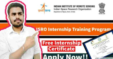 ISRO Free Internship 2021 | ISRO Training Certificate | Summer Internship in ISRO 2021