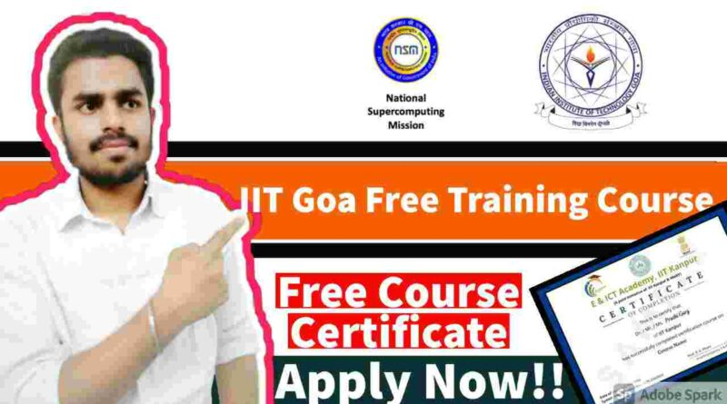 IIT Goa Free Courses For Everyone | Free IIT Certification | Free Online Training on MPI in Action