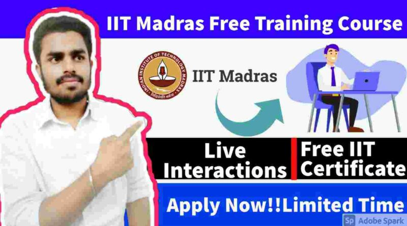IIT Madras Free Online Training   IIT Madras Free Workshop on AI and HPC in Semiconductor Manufacturing in 2021   Free IIT Madras Certificate Courses