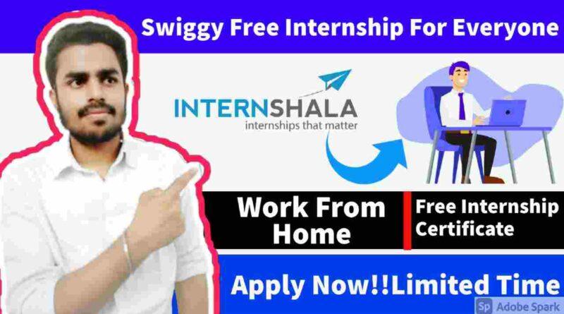Swiggy Careers Internship   1 Day Dream Internship At Swiggy   Free Internship Certificate   Stipend Rs 3000-/Day