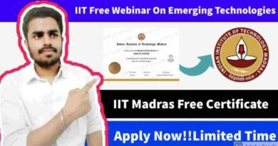 Free Workshop By IIT Madras   IRIS Webinar Series   Free IIT Verified Certificate