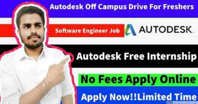 Autodesk Internship | Free Internship Online | Free Online Internship with Certificate