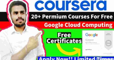 20+ Premium Courses for FREE on Coursera | Google Cloud Free Courses | Free Professional Certificate