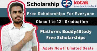 Kotak Shiksha Nidhi Scholarship | Free Scholarship For Everyone in 2021