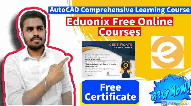 AutoCAD 2021 Comprehensive Training | Free Learning Materials Online | Free Autocad Certificates by Eduonix