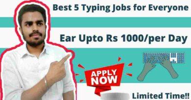 Typing work from home job/internship | Typing Jobs | Partime jobs | Best Typing Job 2021