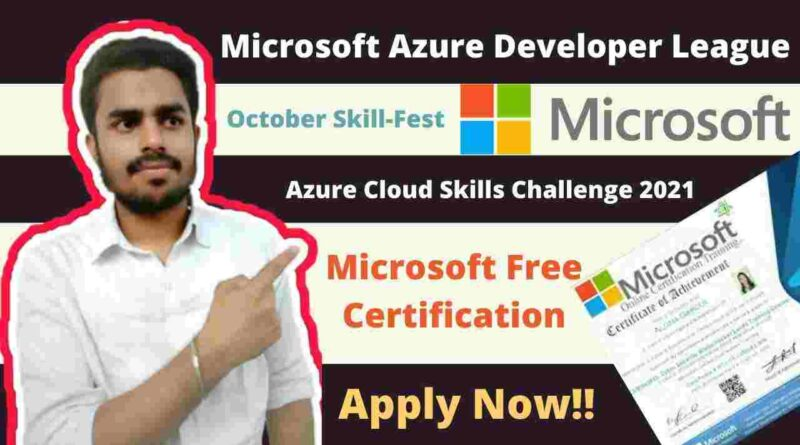 MICROSOFT Free Cloud Based Courses | Azure October Skill Fest 2021 | Free Microsoft Certification & Vouchers